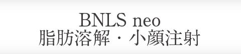 BNLS neo脂肪溶解・小顔注射